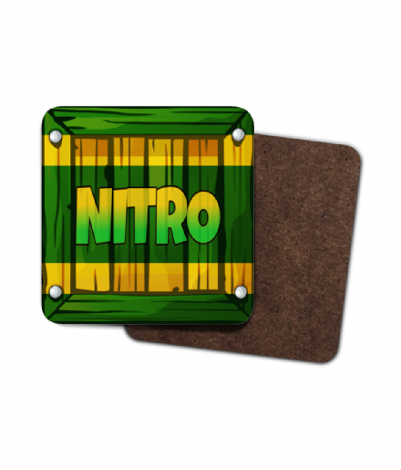 Crash Bandicoot Nitro Crate Single Hardboard Coaster